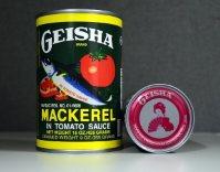 「川商フーズ」が西アフリカで販売しているサバの缶詰「GEISHA(ゲイシャ)」