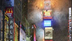 ニューヨーク・タイムズスクエアの新年イベントを彩る東芝のLEDスクリーン