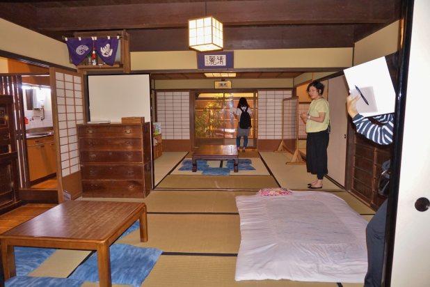 京都市から移築した京の町家コーナー