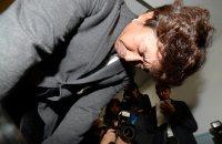 ツアー客がバス事故で亡くなり、頭を下げる旅行会社「キースツアー」の福田万吉社長=東京都渋谷区で2016年1月15日午後3時59分、望月亮一撮影