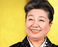 女優で落語家の三林京子=小関勉撮影
