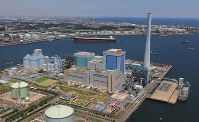 The Isogo Thermal Power Plant, operated by Electric Power Development Co., is seen in Yokohama.