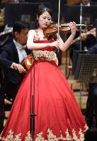 昨年のバイオリン部門1位、小川恭子さん=竹内紀臣撮影