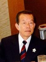 台北駐日経済文化代表処代表に任命された謝長廷氏=2016年5月27日、鈴木玲子撮影