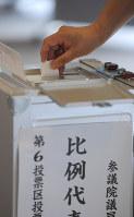 参院選の比例代表は候補者名か政党名を記入する
