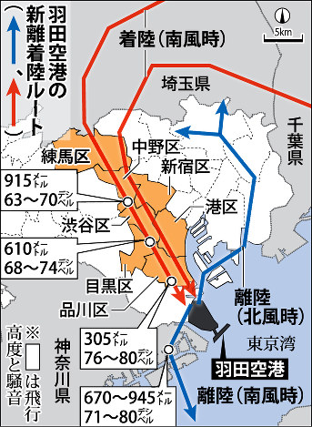 【社会】羽田空港 都心上空の新ルートに関係自治体が合意©2ch.net ->画像>2枚