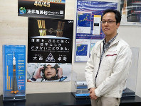 「大西さんに打ち上げや国際宇宙ステーションでの技術的なことをいろいろ聞いてみたい」と話す津田雄一・はやぶさ2プロジェクトマネジャー=相模原市中央区の宇宙航空研究開発機構で2016年6月、永山悦子撮影