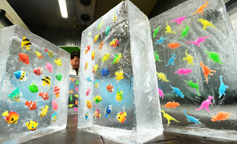 氷柱:熱帯魚や恐竜のおもちゃ、...