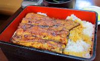 「坂東太郎」を使ったうな重。身はふんわりとして、こくのある味わいだ=横浜市港北区の「御食事処スズキ」で
