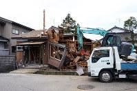 解体、撤去された暴力団事務所。富山県内の暴力団は減少しているが、社会復帰が課題=富山市内で2016年5月、古川宗撮影