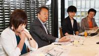 出席した(左から)吉永さん、池上さん、荻上さん、鈴木さん=東京都千代田区で14日