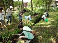 福島県の裏磐梯では毎年夏に楽しく学びながらウチダザリガニを駆除する釣り大会が開かれている=裏磐梯観光協会提供