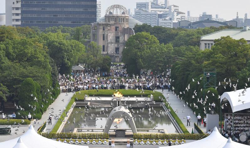 広島原爆の日:国際社会の連帯で...