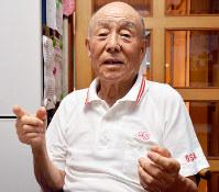 18歳当時を振り返る印南さん=和歌山市金龍寺丁で、高橋祐貴撮影