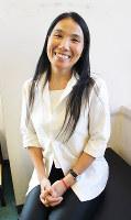 カンボジア人初の女性映画監督のソト・クォーリーカーさん=大阪市北区で、長尾真希子撮影
