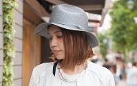 今夏、人気が復活したストロー・パナマハット=日本ファッション協会提供