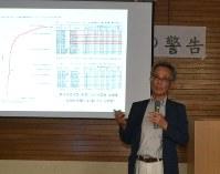 熊本地震の影響などを説明する立石氏