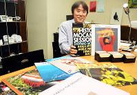 「ジャズは変わっていく音楽」と語る平松博さん=和歌山市本町2で、最上和喜撮影