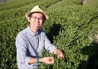 循環型農業で大和茶を生産する「健一自然農園」代表の伊川健一さん=和田明美撮影