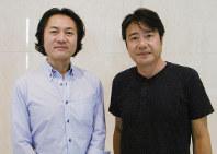 SENDAI座☆プロジェクトの樋渡宏嗣(左)と渡部ギュウ=畑律江撮影