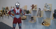 Ultraman turns up at the exhibition of monsters from the first series of the television show that first aired in 1966, on the exhibition's opening day on Oct. 25, 2016, at Spiral Garden in the Minami-Aoyama district of Tokyo's Minato Ward. (Mainichi)