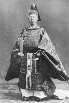 Prince Mikasa is seen in formal attire for a coming-of-age ceremony in December 1935.