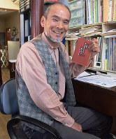 山陰こどものとも社代表の末宗辰彦さん=鳥取県米子市吉岡で、小松原弘人撮影