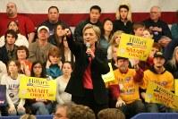 ヒラリー・クリントン氏=ニューハンプシャー州ハンプトンで2008年1月6日、大治朋子撮影