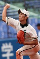 二松学舎大付高ではエースとして活躍した鈴木=神宮球場で2011年7月23日、梅田麻衣子撮影
