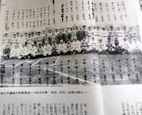「最後の早慶戦」の記念撮影=『別冊一億人の昭和史 学徒出陣』(毎日新聞社、1981年)より
