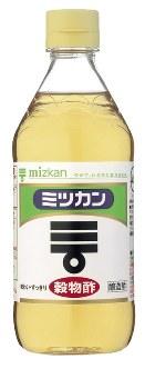ミツカンマークをあしらった穀物酢=ミツカン提供