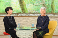 「サワコの朝」に登場する島田順子(右)