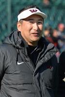 早大の芝原篤コーチ=阪神甲子園球場で2016年12月18日、大西岳彦撮影