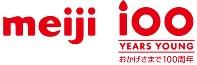 創業100周年を記念して作られたロゴマーク=明治提供