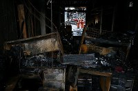 A burned office is seen in Itoigawa, Niigata Prefecture, on Dec. 25, 2016, after a fire engulfed the area three days earlier. (Mainichi)