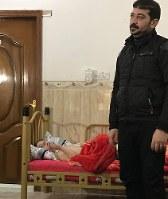 長男がISに殺されたお父さんと瀕死「瀕死」の状態の7歳の三男