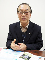 健康デザイン研究所代表の山崎勇三さん=広島市中区で、寺岡俊撮影