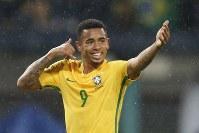 マンチェスター・Cに正式加入したブラジル代表FWジェズス [写真]=LatinContent/Getty Images