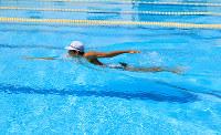 現在も伝承される岩倉流泳法の「抜手」=那須賢二さん提供