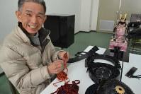 「イチから手作りするのが楽しい」と話す本間さん=京都市亀岡市で、上東麻子撮影