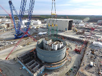The V.C. Summer nuclear plant that Westinghouse Electric Co. is building in South Carolina, the United States, is pictured in this photo courtesy of Toshiba Corp.