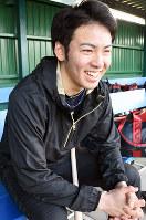 「将来は日の丸を背負って国際舞台で戦いたい」と話す納大地選手=奈良県五條市で、郡悠介撮影