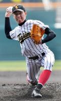 【報徳学園―多治見】多治見の先発・河地=阪神甲子園球場で2017年3月20日、三浦博之撮影