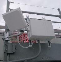 NACK5スタジアムに設置されたワイファイのアンテナ=J1大宮提供