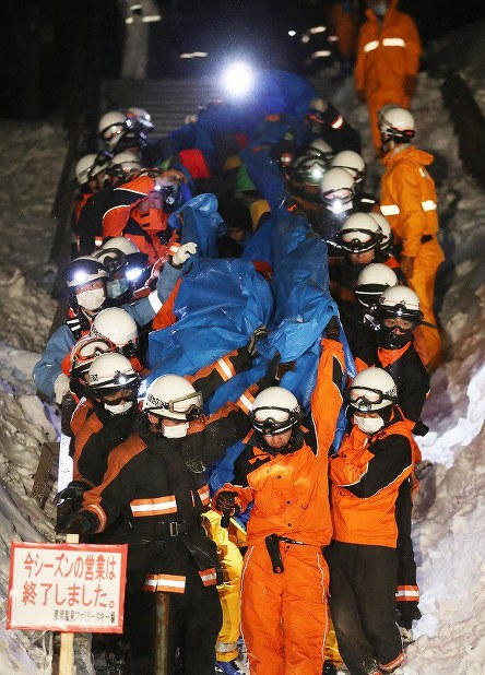 In Photos: Tochigi avalanche disaster rescue