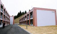 新たに建てられた学生留学生宿舎「北溟」=金沢市角間町の金沢大で、道岡美波撮影