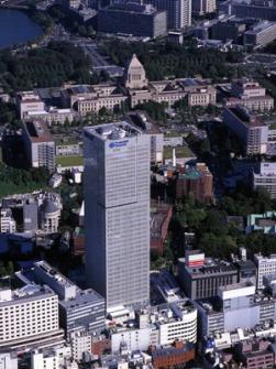 ホテルニュージャパン跡地に建てられた東京・永田町のプルデンシャルタワー=03年撮影