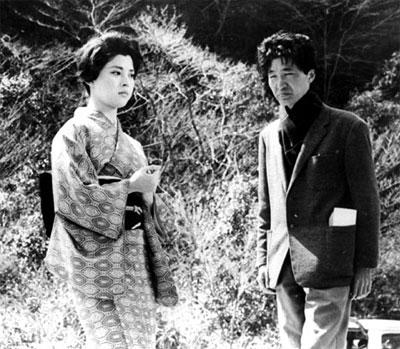 映画『秋津温泉』ロケでの岡田茉莉子さんと吉田喜重監督