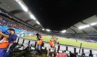 ギリシャ戦が行われるブラジル・ナタルのドゥナス競技場=2014年6月20日、小出洋平撮影
