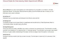 米国務省がウエブサイト公表している記者取材時の「グラウンド・ルール」。オンレコからオフレコまで4段階に分かれている